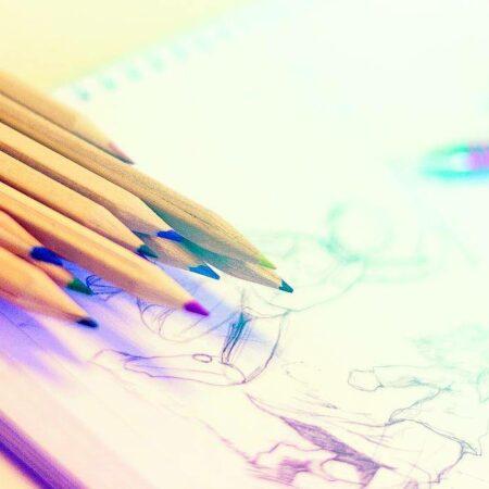 Potloden, stiften, markers